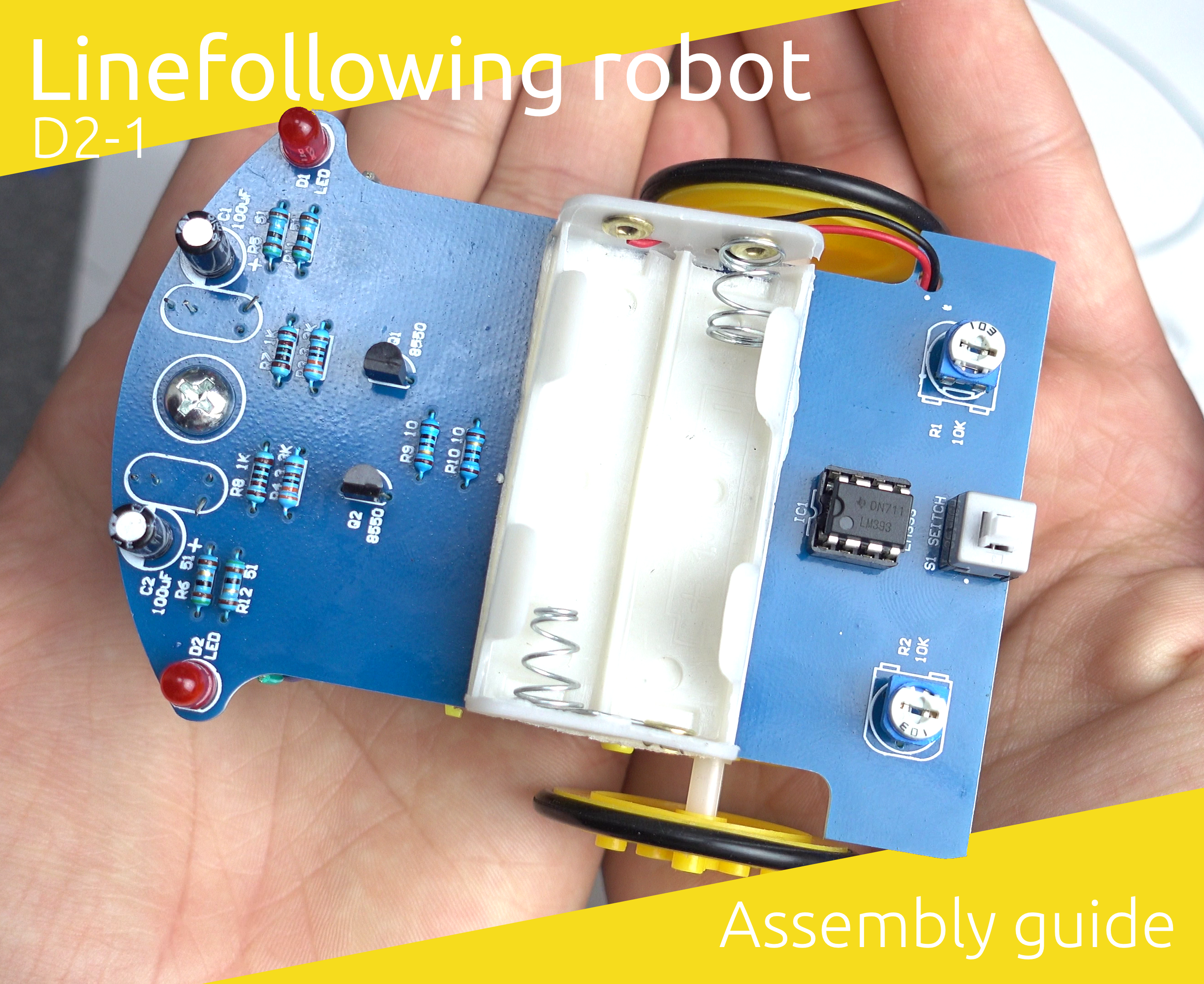Picture of D2-1 Linefollowing Robot Assembly Guide - Ultra Cheap Robot Kit