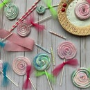 Swirled Marshmallow Lollipops