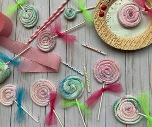 Swirled Marshmallow Lollipops