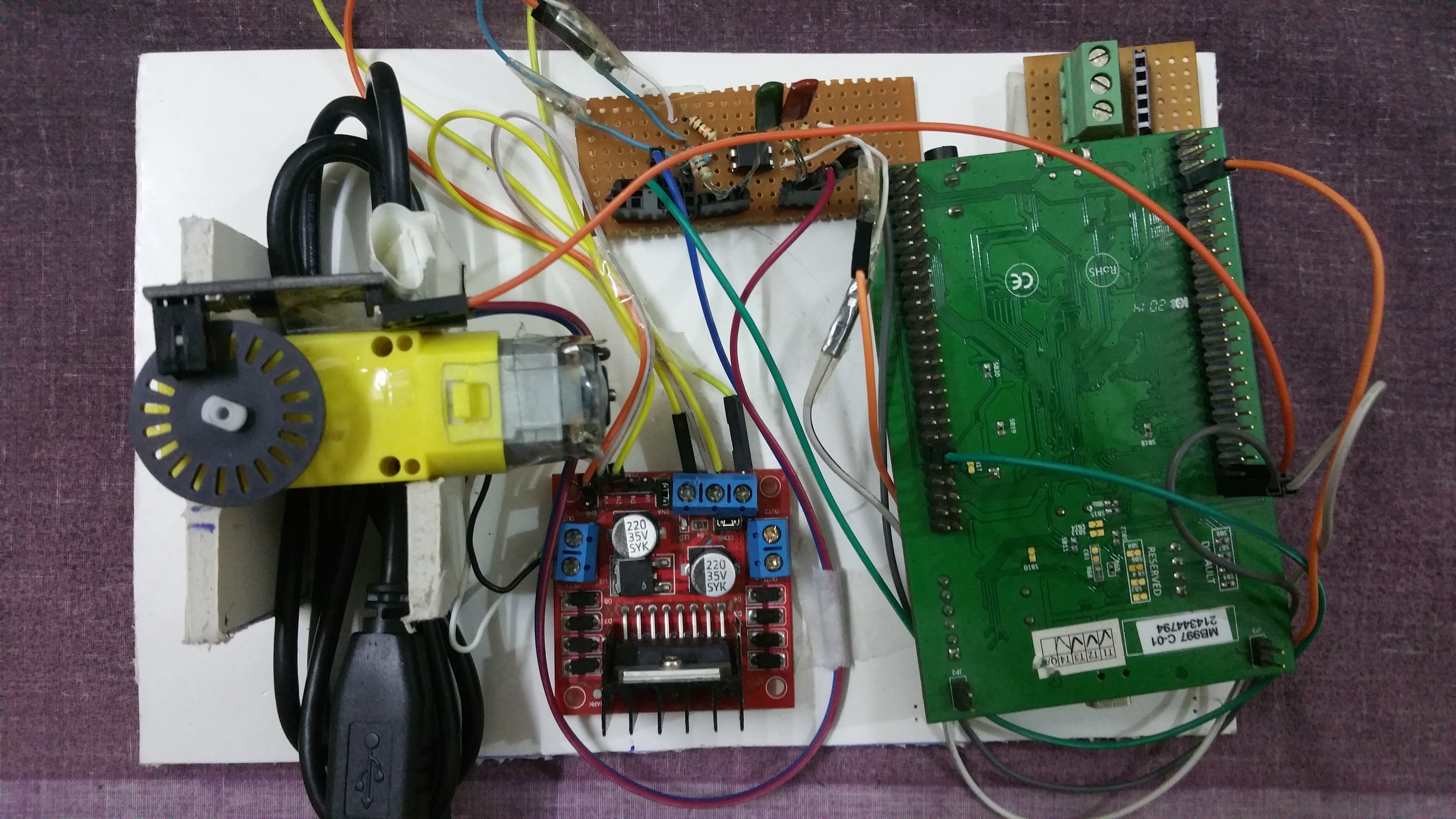 Picture of Speed Control of DC Motor Using PID Algorithm (STM32F4)
