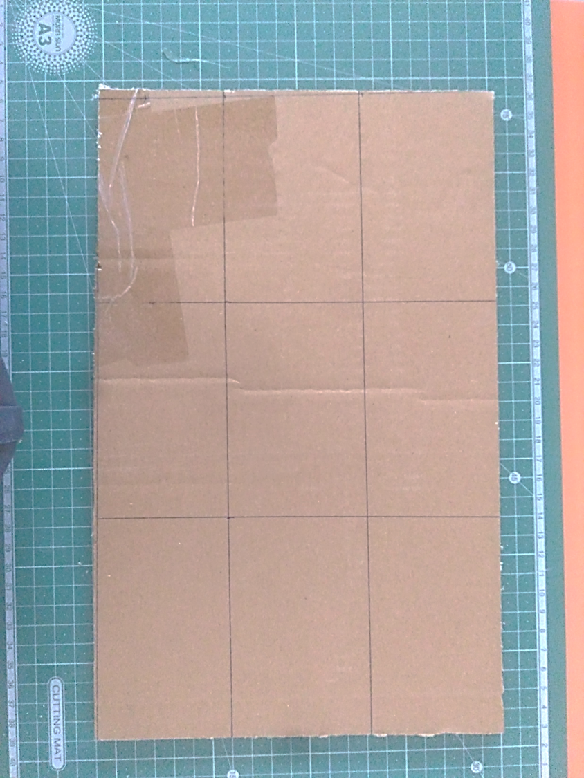 Picture of Draw Sections on Cardboard