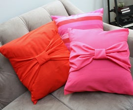 Big Bow Pillow Case Tutorial