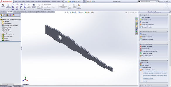 Load Your Part in Solidworks