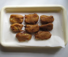 Deep Fried Fritters Made With Ripe Banana Slices