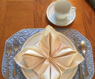 Napkin Folding - Flower