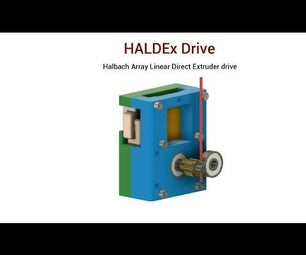 Linear Direct 3D Printer Extruder Drive. Fusion 360.