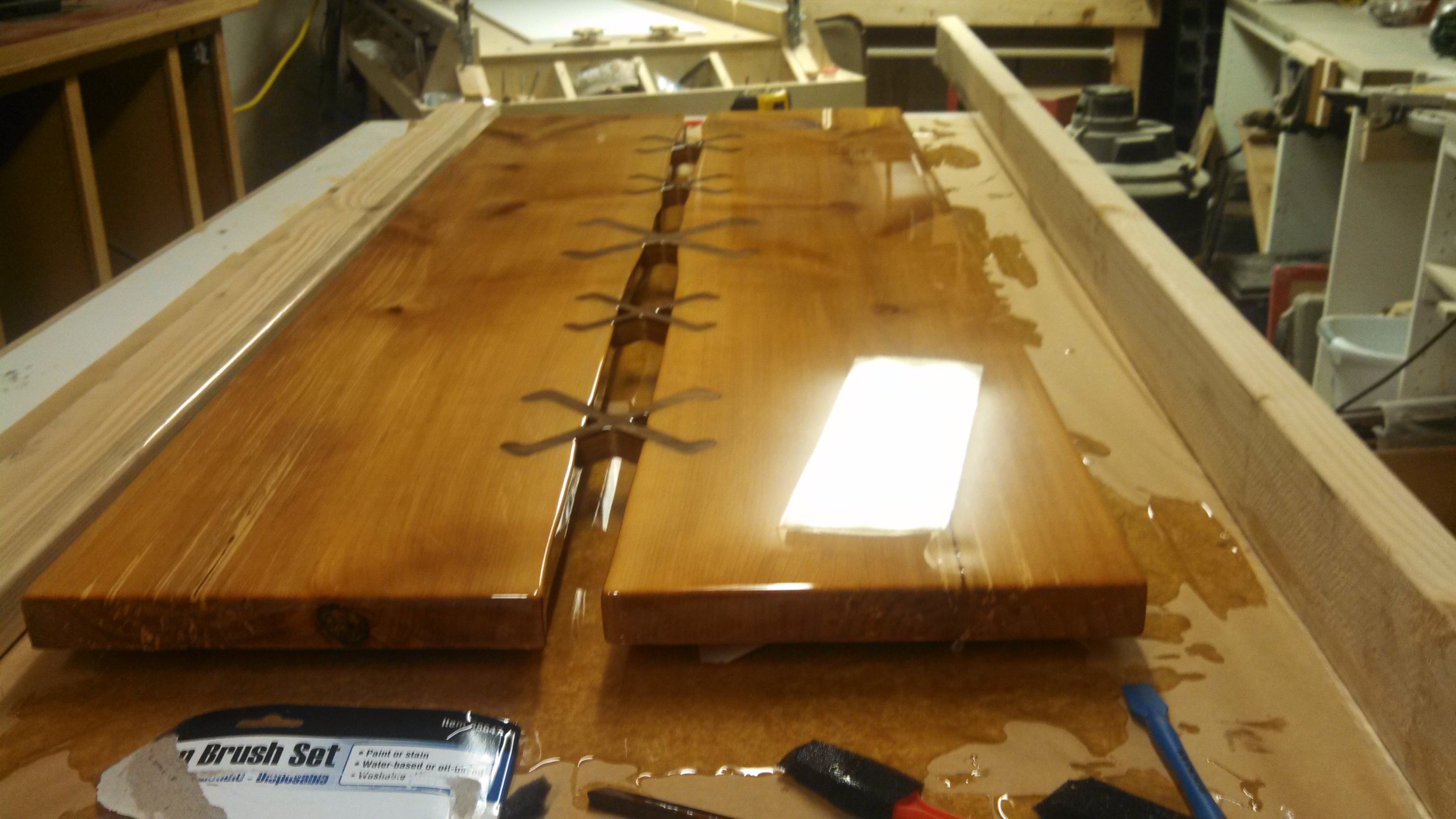 Picture of Surface Treatment,  Oil Based Stain and 2 Part Epoxy