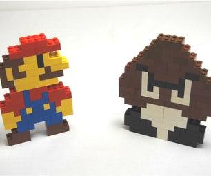 Lego Super Mario and Goomba