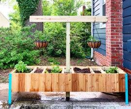 Raised Sustainable Vegetable Garden