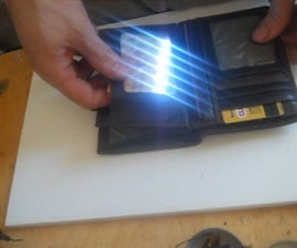 How to Make a Led Flashlight Out Plastic Cards