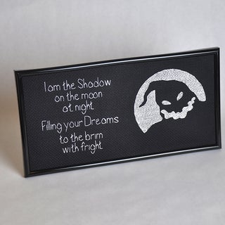 """""""I Am the Shadow"""" - Oogie Boogie Cross Stitch"""