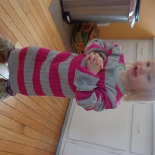 Luxury Leggings for Little Ones!  a Two-seam Sweater Repurposing Project