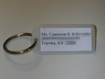 Quick and Easy Name Tag Keychains