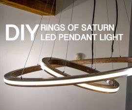 "DIY ""Rings of Saturn"" LED Light W/ Music Visualization Mode"