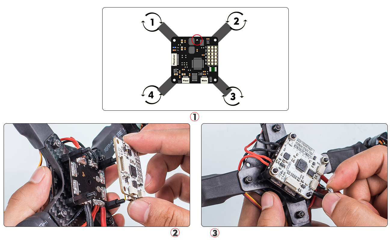 Picture of Wiring of ESCs and Flight Controller