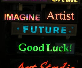 Make Your Own Illuminated Signs