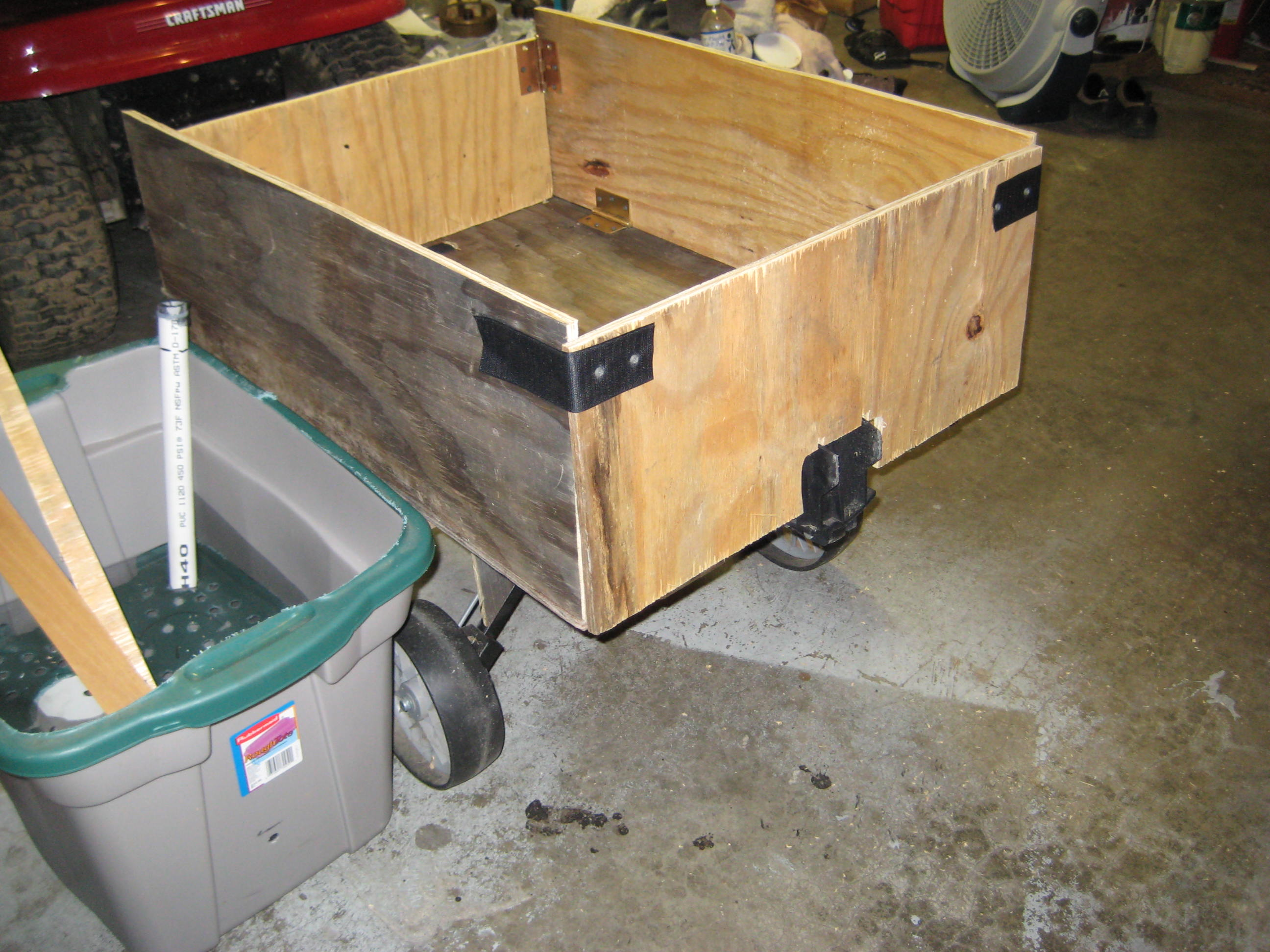 Picture of Yard Cart (Wagon) for Hand or Tractor Use From Golf Cart.