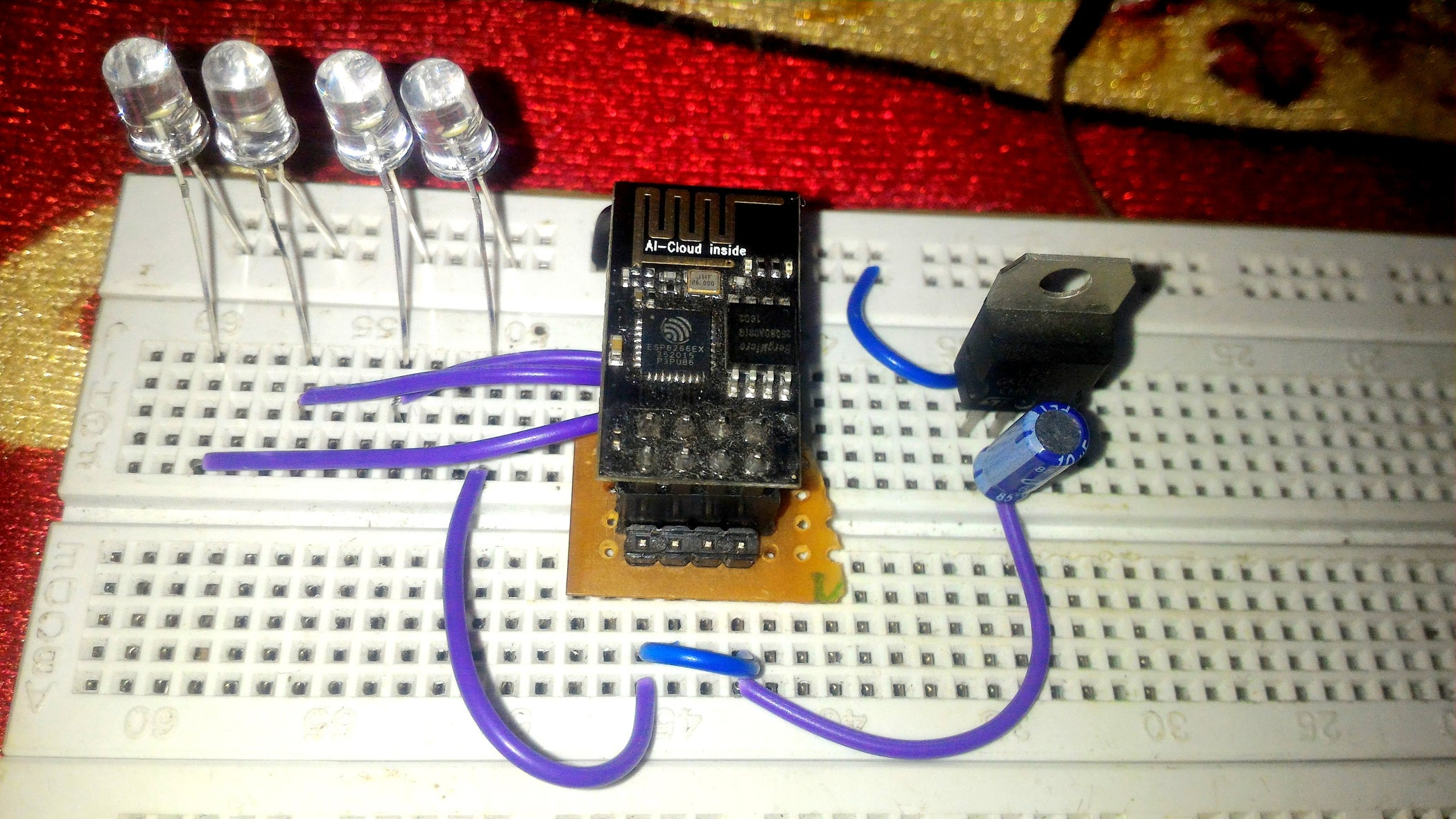 Esp8266 01 Led Control 7 Steps With Pictures Copper Prototype Pcb Universal Boardled Printed Circuit Board