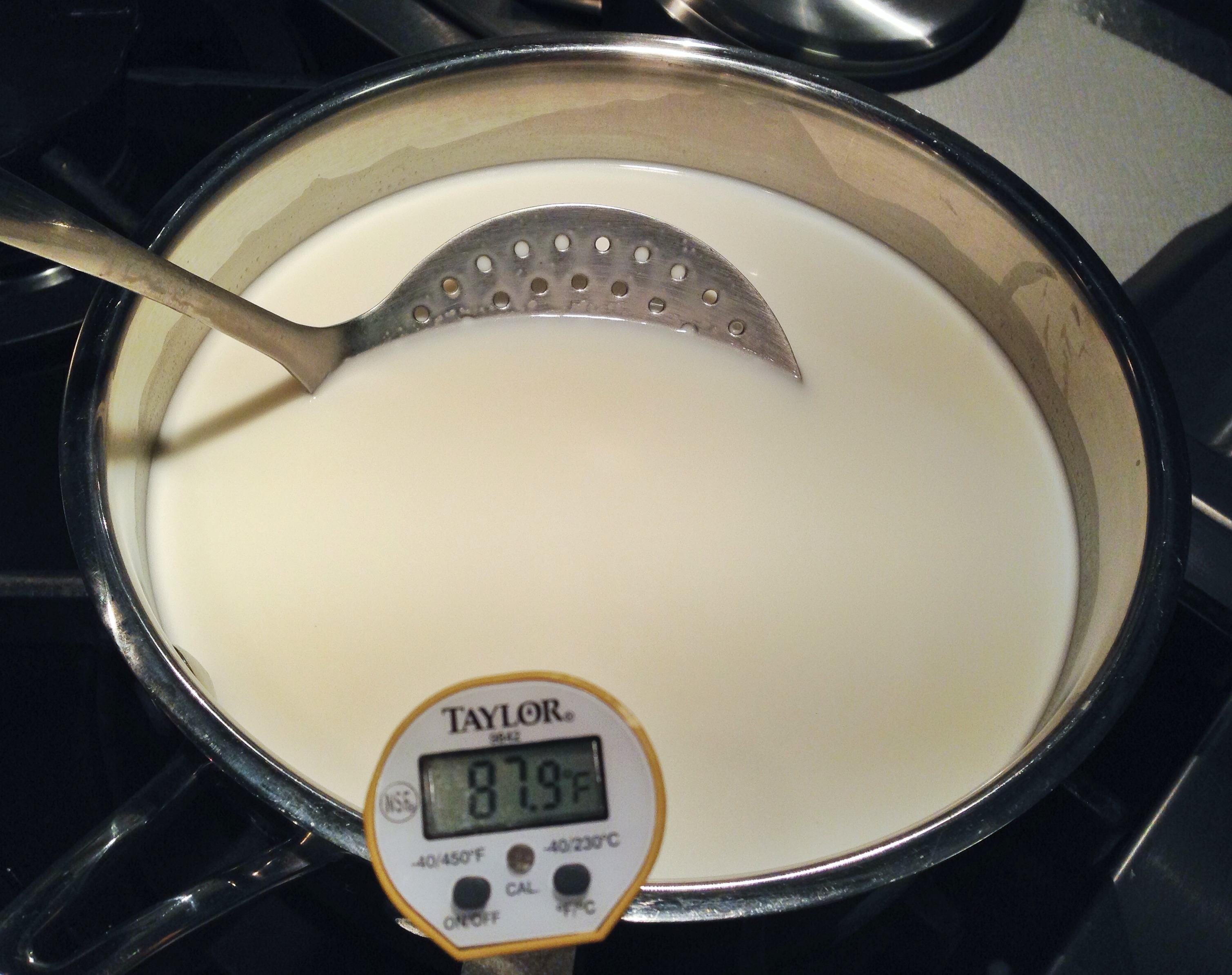 Picture of Heat Milk to 86F Over Medium Heat