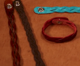 Leather Mystery Braid Cuff