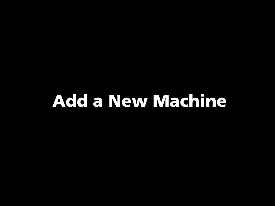 Picture of TOOLING CLOUD: Add a New Machine