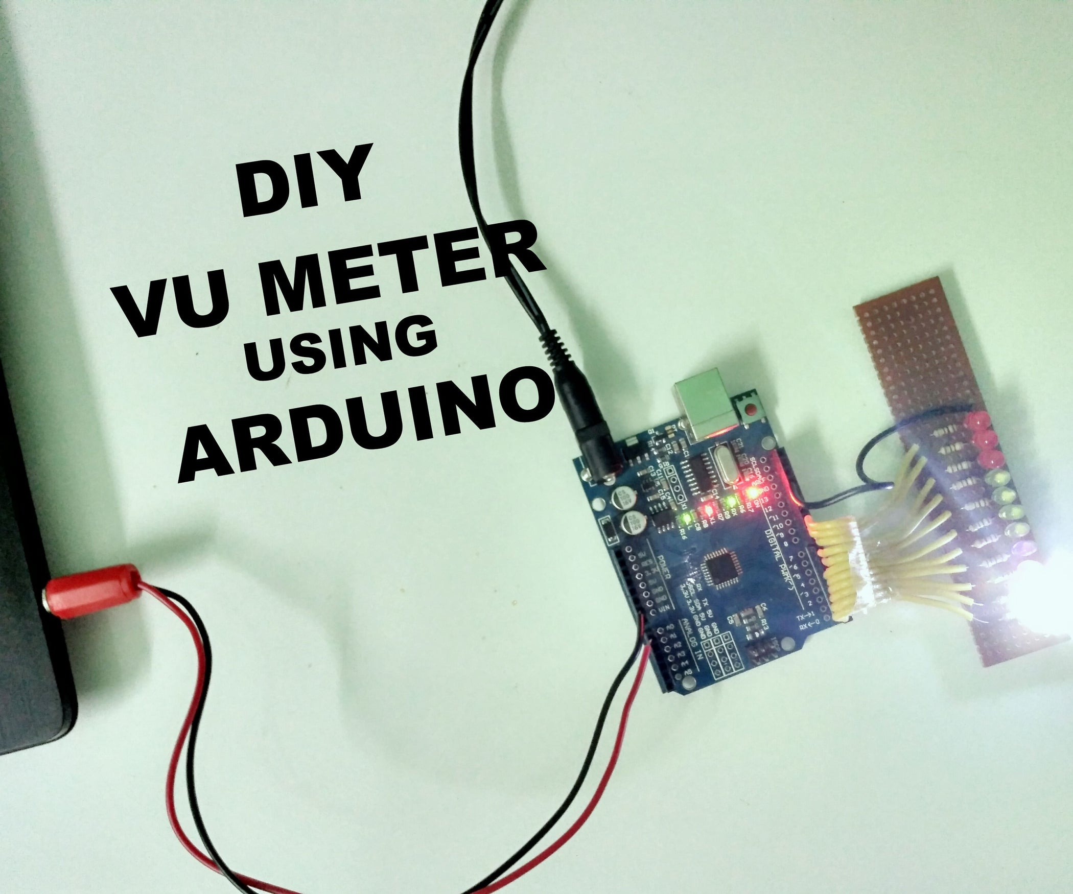 How To Make A Vu Meter Using Arduino 3 Steps With Pictures Picture Of The 2 Channel Led Color Organ Circuit