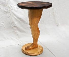 Making a Wood Pedestal Leg Table (literally)