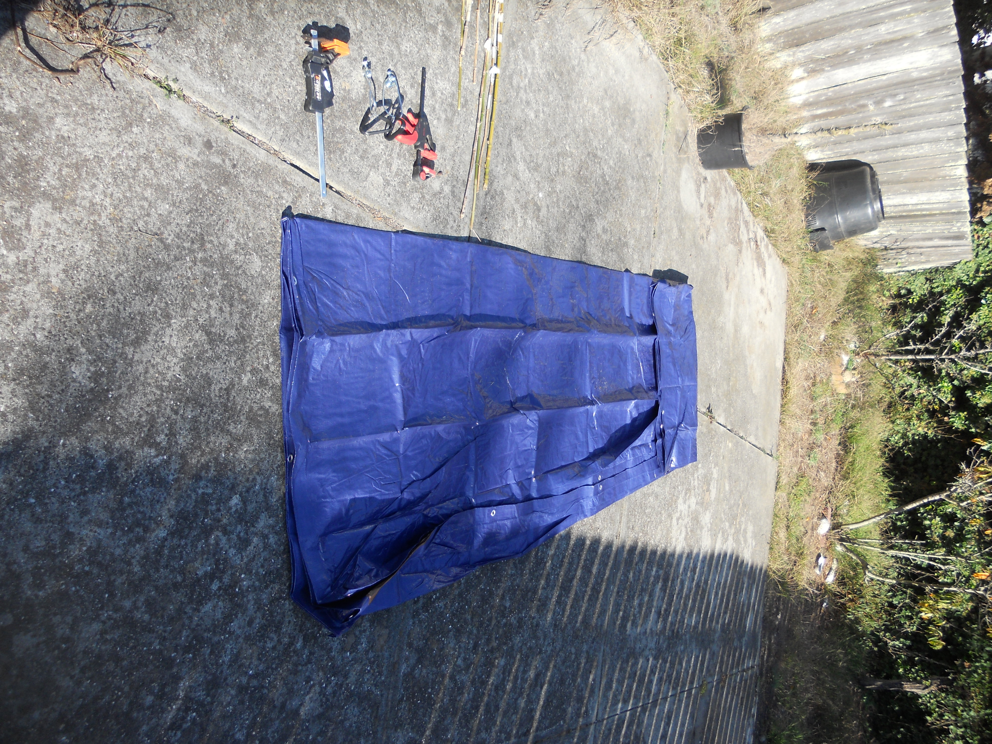 Picture of Step 1: Jury Rig a Large Container Out of a Tarp