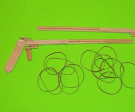 How to make a Rubber Band Gun with Popsicle Sticks