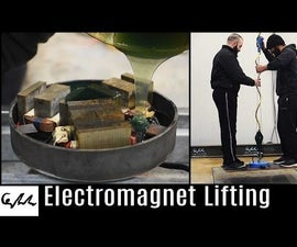 ELECTROMAGNET From Microwave Transformers
