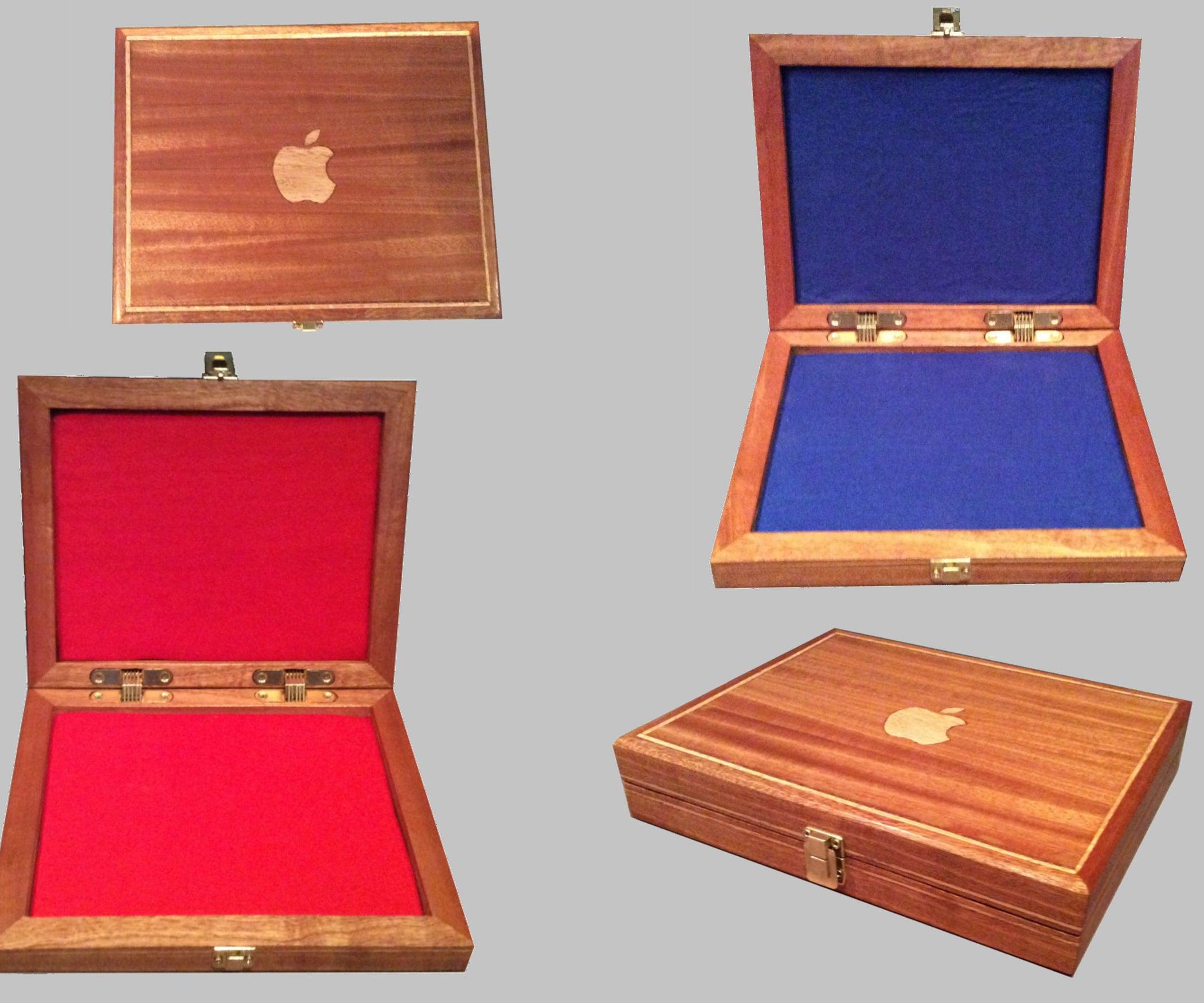 Wooden Apple IPad Protective Box