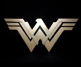 Wonder Woman Logo - MDF- Limited Tools
