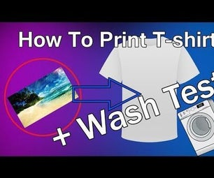 How to Print T-shirts + Washing Test