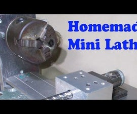 Homemade Mini Lathe by CNC Linear Motion Guide Rail Machinery Devices