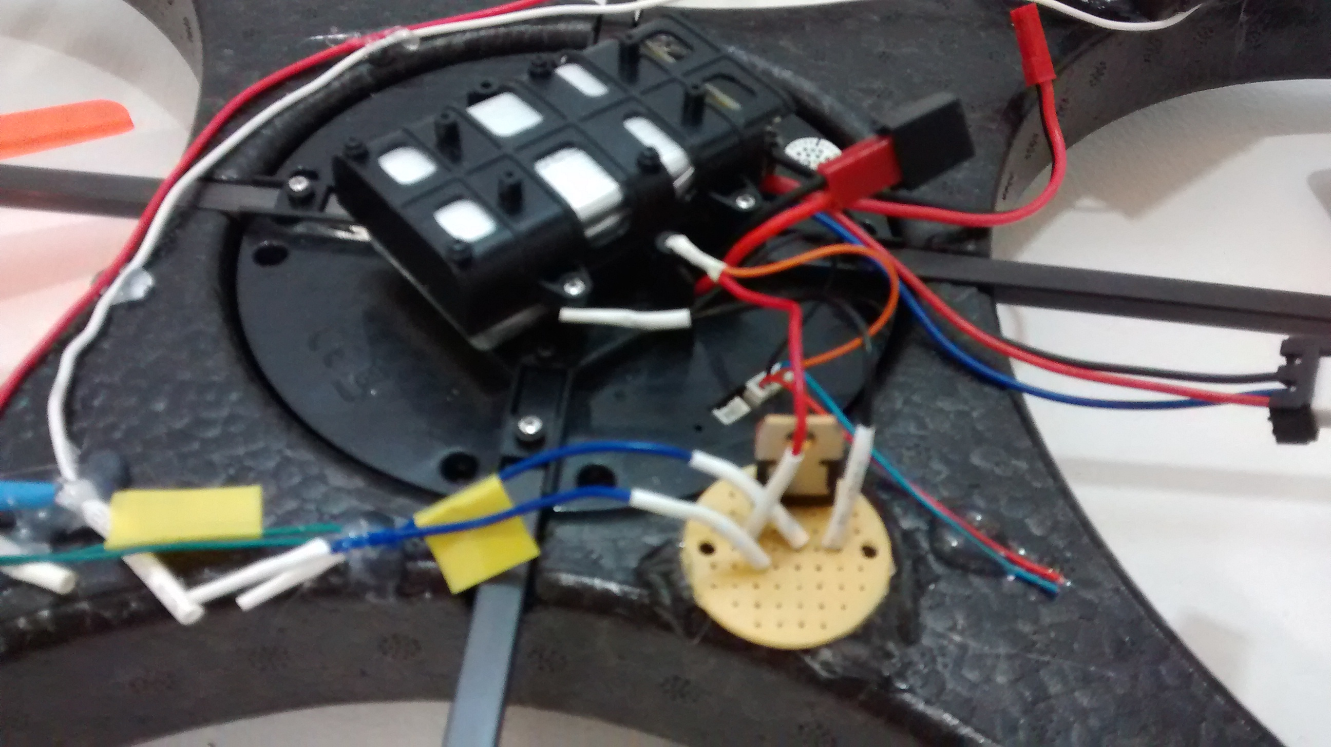 Picture of Final Wiring of Gun Module on Quad, and Test