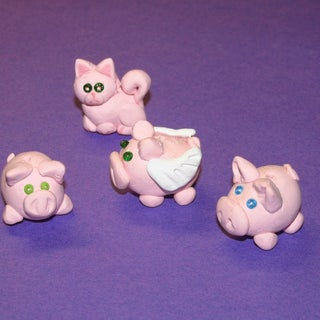 How to Make Clay Pig Beads!