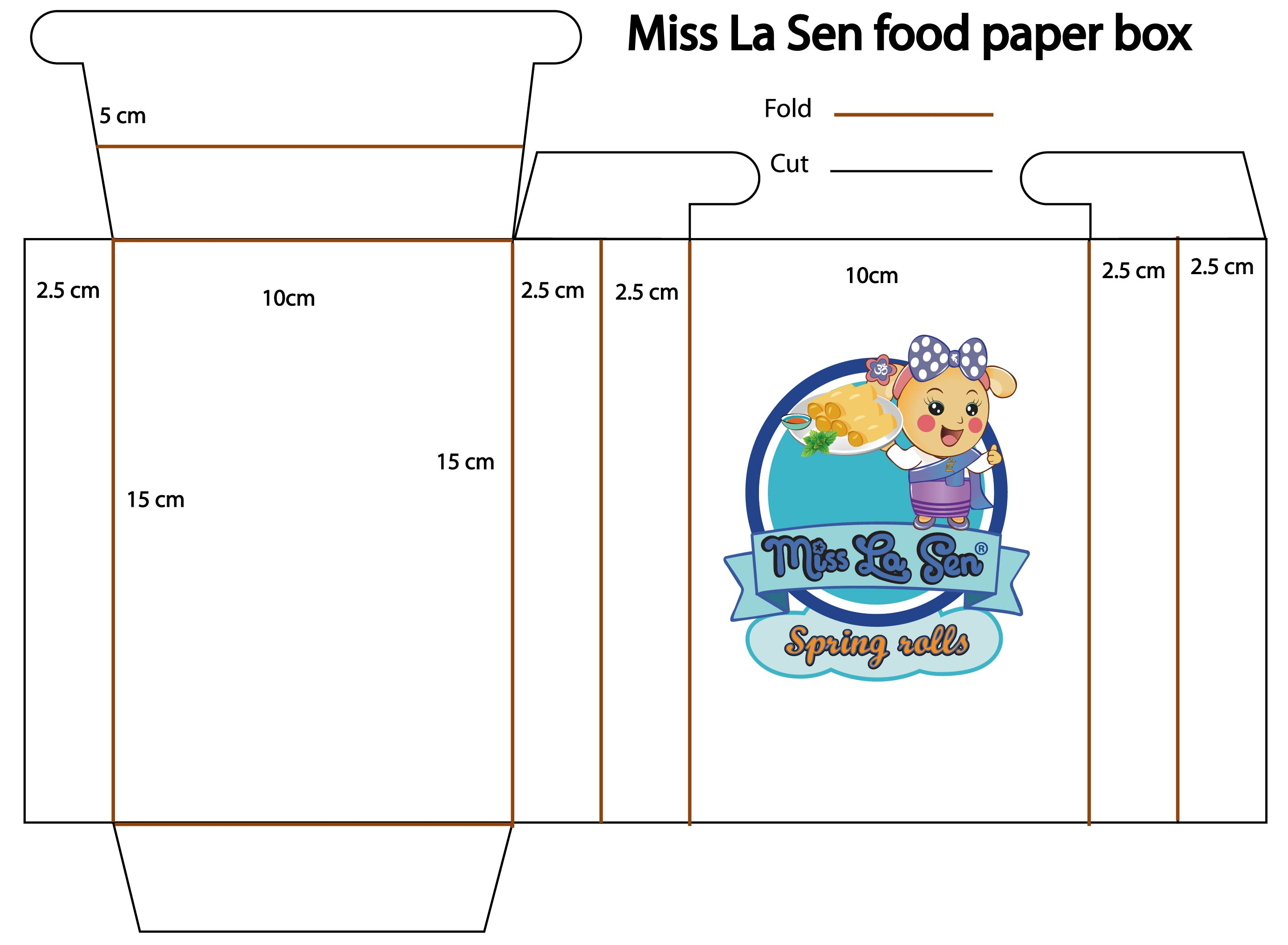 Picture of Miss La Sen Food Paper Box