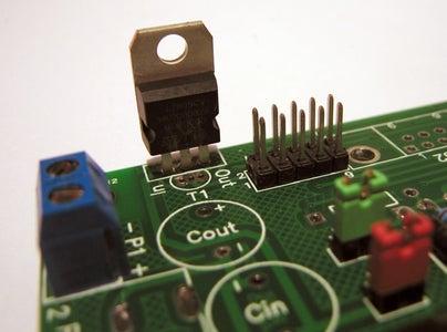 Step 5. Soldering Voltage Regulator