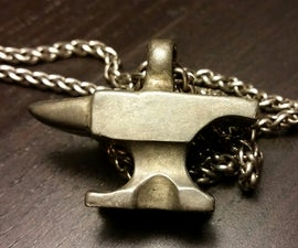Casting With Delft Clay (White Bronze Anvil Pendant)