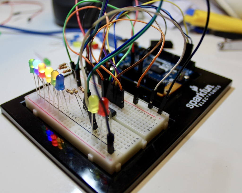 Picture of LED Waterfall With a Shift Register and Arduino