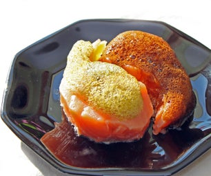 Salmon Mi-Cuit With Foamed Flavor Dressing