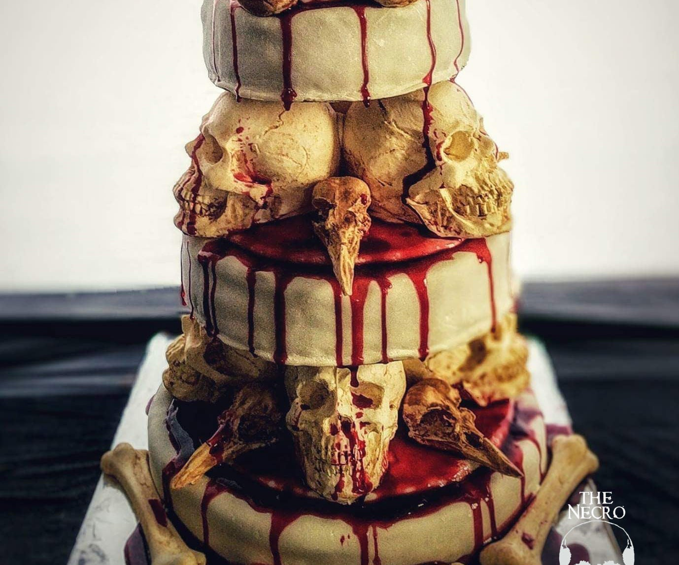 Cool The Bone Collector Stacked Skull Cake 7 Steps With Pictures Funny Birthday Cards Online Barepcheapnameinfo