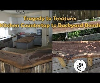 We Turned a Harvey Destroyed Live Edge Counter Top to a Bench!