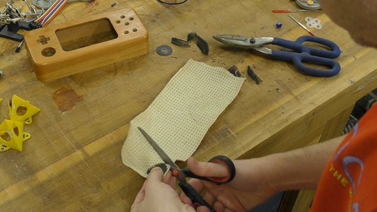 Cutting Out the Speaker Hole and Making the Grill