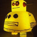 Hot Glue Casting: Instructables Robot {L.E.D. Backlit}
