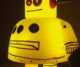 Hot Glue Casting: Instructables Robot {L.E.D. Backlit}