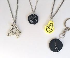 DIY Unicorn Polygon Stitch Necklace