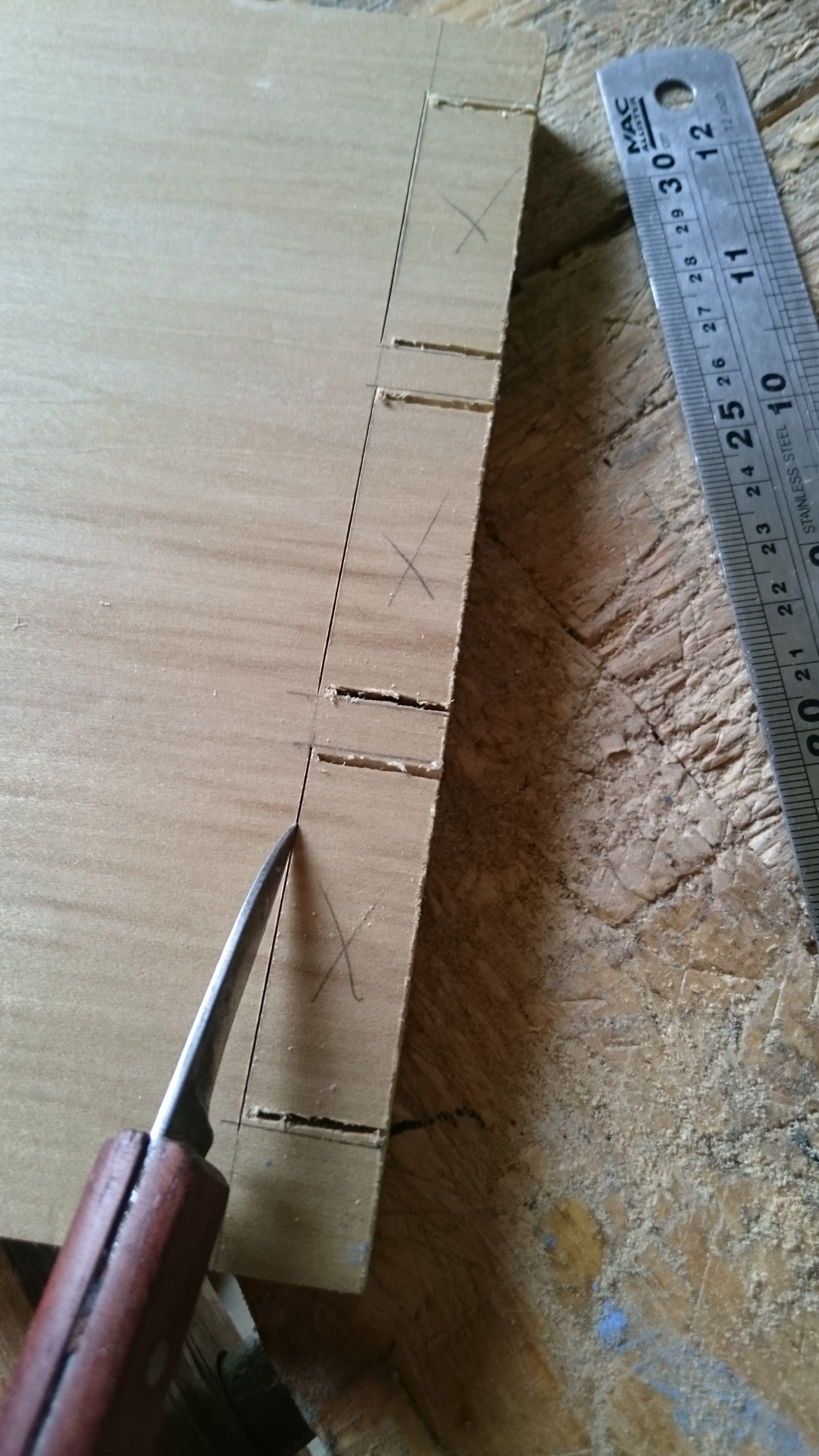 Picture of Marking and Cutting the Pins