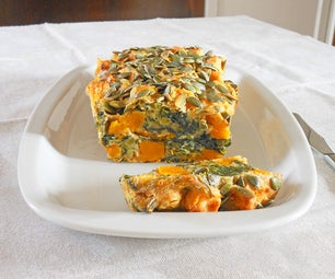 Pumpkin and Spinach Cake