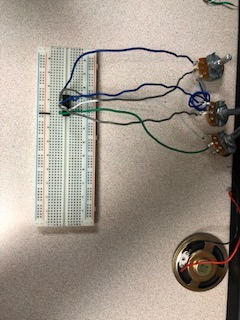Picture of BreadBoard Speaker Circuit